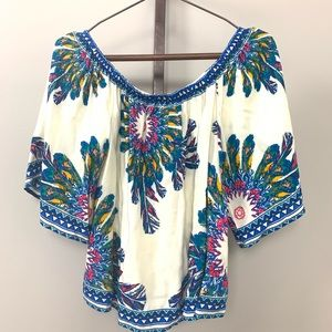 Flying Tomato Tropical Print Top